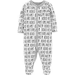 Baby Carter's 'Heart Breaker' Print Sleep & Play