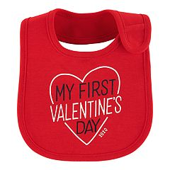 Baby Girl Carter's 'My First Valentine's Day' Graphic Bib