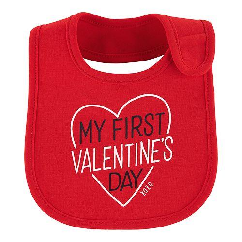 "Baby Girl Carter's ""My First Valentine's Day"" Graphic Bib"