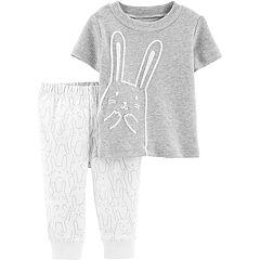 Baby Carter's Bunny Tee & Pants Set