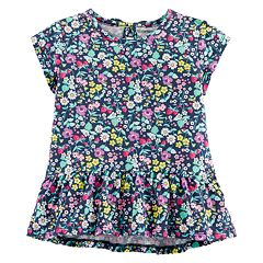 Toddler Girl Carter's Floral Peplum-Hem Top