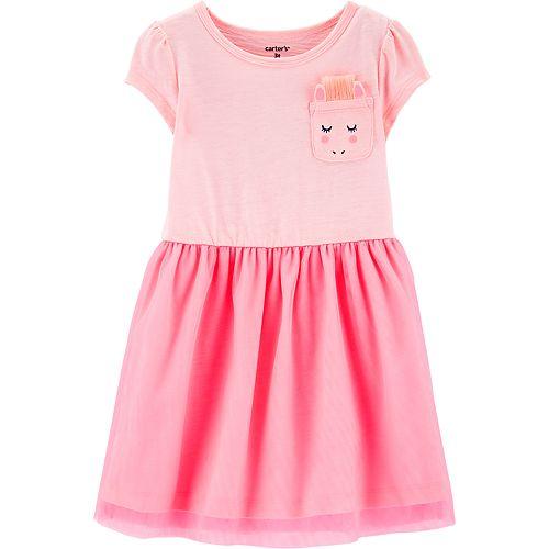 Toddler Girl Carter's Unicorn Pocket Tulle Dress