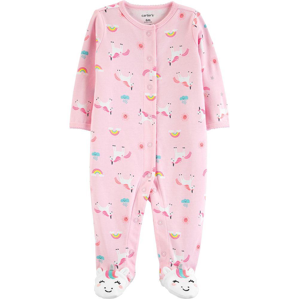 Baby Girl Carter's Unicorns & Rainbows Sleep & Play