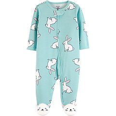 Baby Girl Carter's Bunny Rabbit Sleep & Play