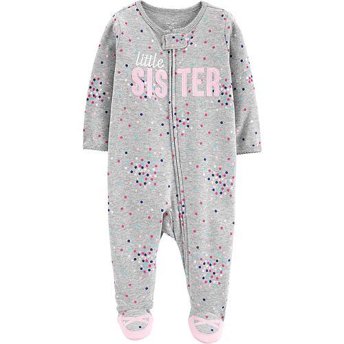 "Baby Girl Carter's ""Little Sister"" Sleep & Play"