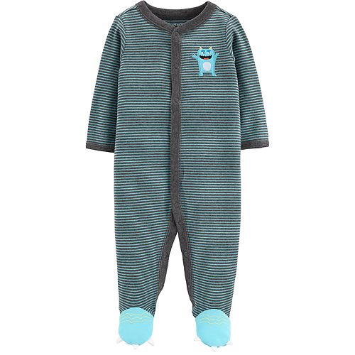 Baby Boy Carter's Striped Monster Sleep & Play