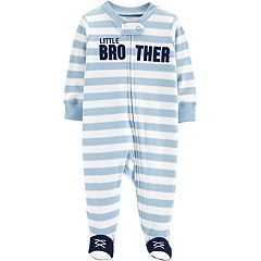 Baby Boy Carter's 'Little Brother' Striped Sleep & Play