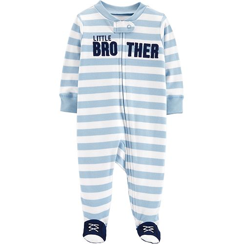 "Baby Boy Carter's ""Little Brother"" Striped Sleep & Play"
