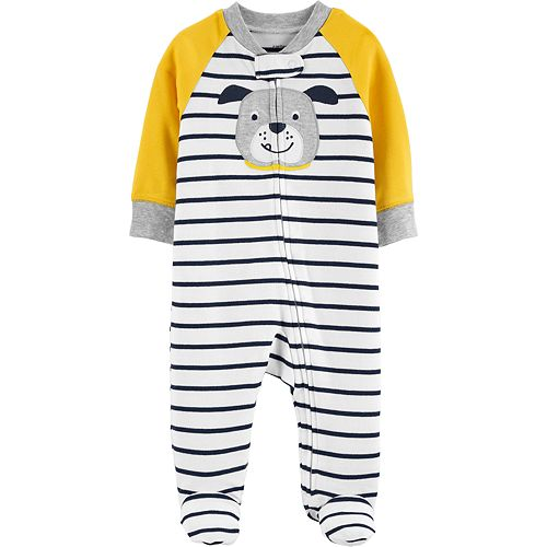 Baby Boy Carter's Bulldog Striped Sleep & Play