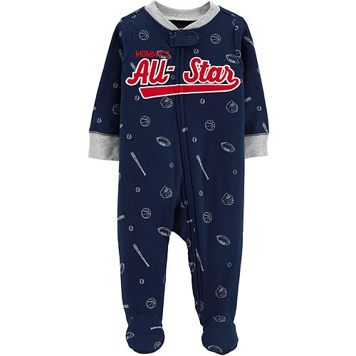 "Baby Boy Carter's ""Mommy's All-Star"" Football, Baseball & Basketball Sleep & Play"