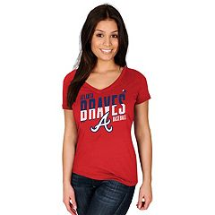 Women's Majestic Atlanta Braves Crank Up Tee