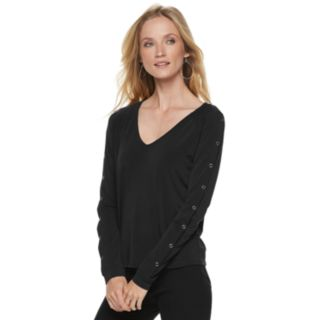 Women's Jennifer Lopez Snap-Sleeve Tee