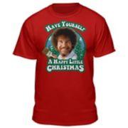 Men's Bob Ross Christmas Tee