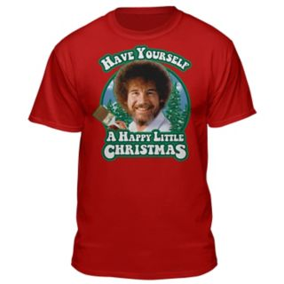 Men's Bob Ross Christmas Tee