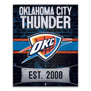 Oklahoma City Thunder Brickyard Wall Decor
