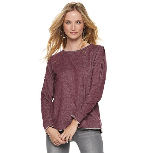 Women's Rock & Republic® Convertible-Zip Sweatshirt