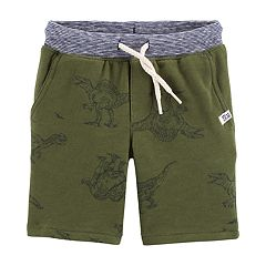 Toddler Boy Carter's Dinosaur Knit Pull On Shorts