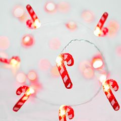 Manor Lane 10-ft. Candy Cane Christmas String Lights
