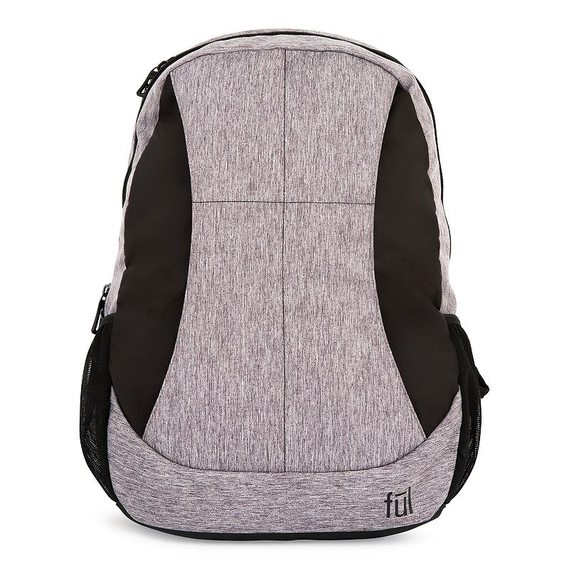 FUL Westly Laptop Backpack, Grey Convenient and functional, this FUL backpack is perfect for work, school and anywhere in between. Durable polyester construction is flexible and resistant to damage Spacious main body compartment with a laptop pouch for storage Front zippered vertical pocket provides additional storage for essentials Zippered organizer pocket has Rfid shield protection to help prevent electronic theft Yoke-style shoulder straps with neoprene handle for a comfortable feel Side pockets conveniently hold a water bottle Rubberized bottom is water resistant Padded back panel with air flow channel 19 H x 11.5 W x 6 D Weight: 1.3 lbs. Cation Polyester Zipper closure Manufacturer's 1-year limited warrantyFor warranty information please click here Model no. ABFL5688-064 Size: Onesize. Color: Grey. Material: Soft Side.