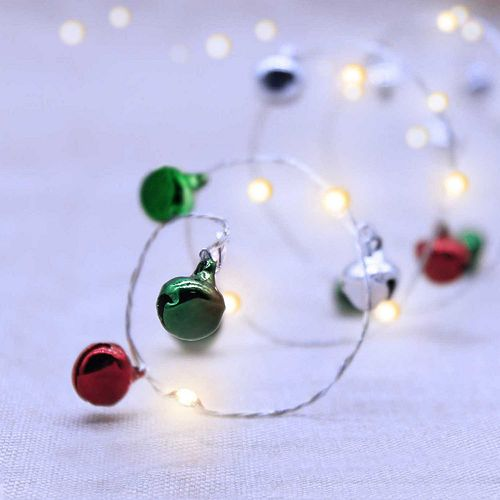 Manor Lane 10-ft. Jingle Bell Christmas String Lights