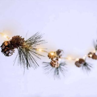 Manor Lane 10-ft. Artificial Pine Cone String Lights