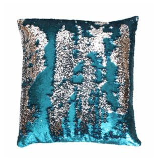 THRO by Marlo Lorenz Melody Mermaid Reversible Sequins Faux Linen Throw Pillow