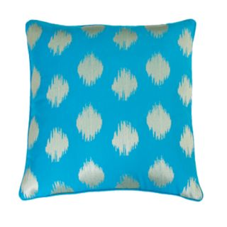 THRO by Marlo Lorenz Deniz Metallic Ikat Embroidered Throw Pillow