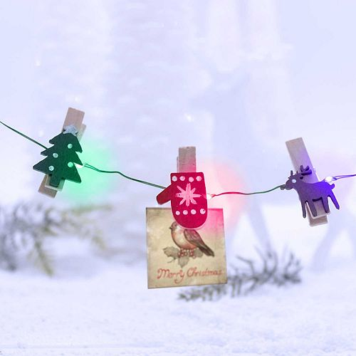Manor Lane 10-ft. Clip Christmas String Lights