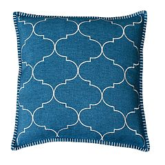 THRO by Marlo Lorenz Ava Trellis Whipstitch Embroidered Throw Pillow