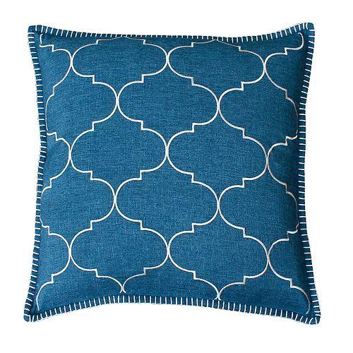THRO by Marlo Lorenz Ava Trellis Whipstitch Embroidered Throw Pillow
