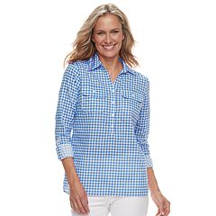 Women's Caribbean Joe Checked Shirt