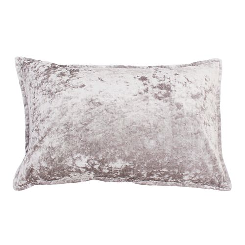 THRO by Marlo Lorenz Iliana Ice Velvet Textured Oblong Throw Pillow