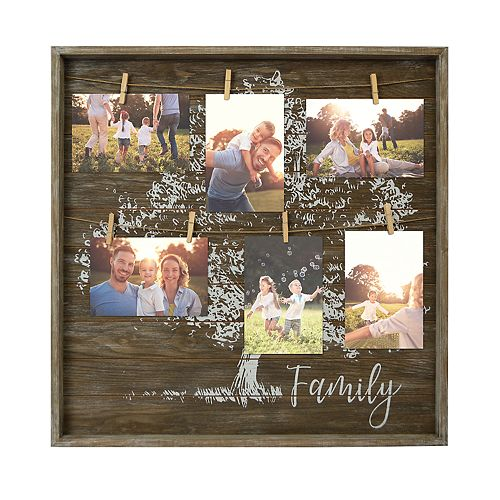 "New View ""Family"" 7-Opening Clip Collage Frame"