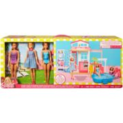 Mattel Barbie Glam House & 3 Doll Set