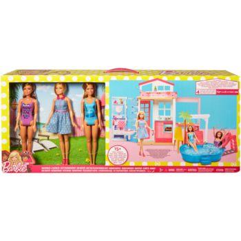 Mattel Barbie Glam House & 3 Doll Set