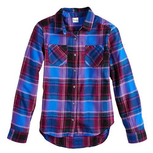 Girls 7-16 & Plus Size Mudd® Flannel Long Sleeve Shirt