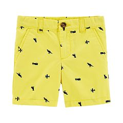 Toddler Boy Carter's All Over Vehicles & Dinosaurs Flat Front Shorts