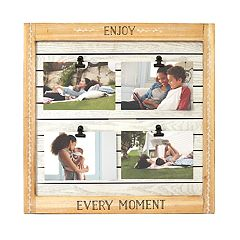 New View 'Enjoy Every Moment' 4-Opening Clip Collage Frame