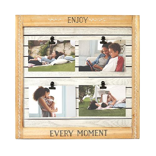 """New View """"Enjoy Every Moment"""" 4-Opening Clip Collage Frame"""