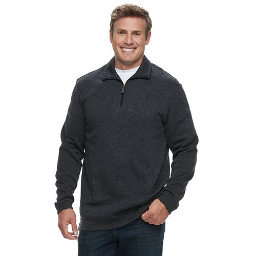 Big & Tall Haggar  Marled Sweater Fleece Quarter-Zip Pullover