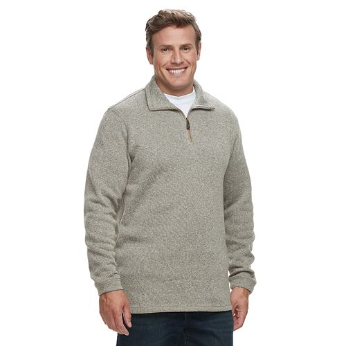 Big & Tall Haggar  Marled Sweater Fleece Quarter-Zip Pullover