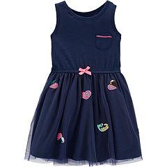 Toddler Girl Carter's Sequin Heart Tulle Dress