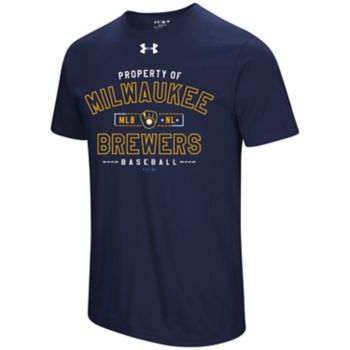 Men's Under Armour Milwaukee Brewers Heat Gear Crushed It Tee