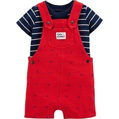 Baby Boy Carter's Striped Tee & Nautical Shortalls Set