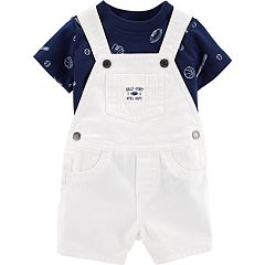 Baby Boy Carter's Sports Tee & Denim Shortalls Set