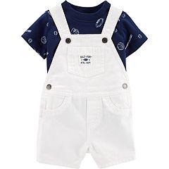 Baby Boy Carter's Sports Tee & Denim Shortalls Set