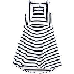 Toddle Girl Carter's Striped Hi-Low Dress