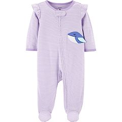 Baby Girl Carter's Striped Whale Sleep & Play