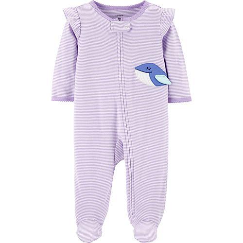 Baby Girl Carter's Striped Whale Sleep & Play