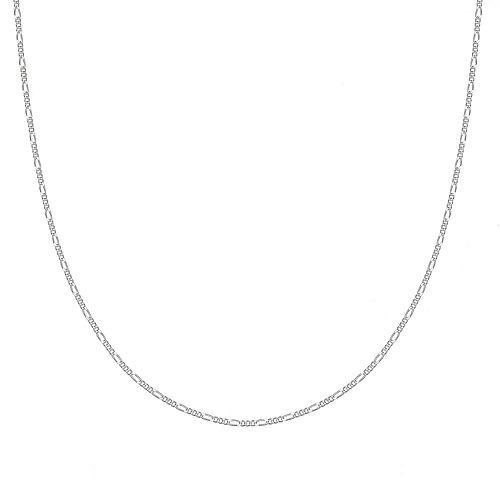 PRIMROSE Sterling Silver Figaro Chain Necklace